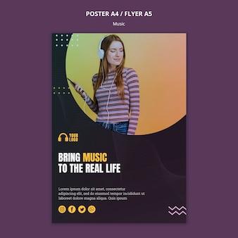 Design de folheto de evento de música