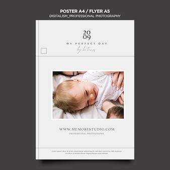 Design de folheto de fotografia profissional