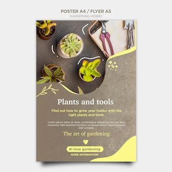 Design de folheto de passatempo de jardinagem