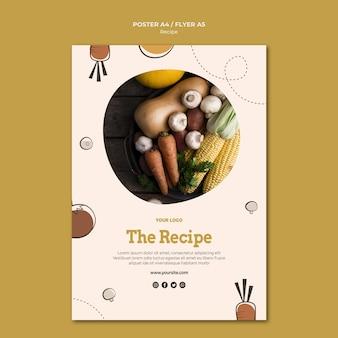 Design de folheto de receita de culinária