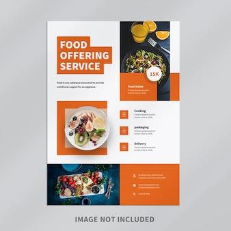 Design de folheto de restaurante de comida
