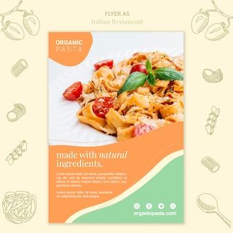 Design de folheto de restaurante italiano