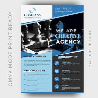 Design de folheto empresarial moderno