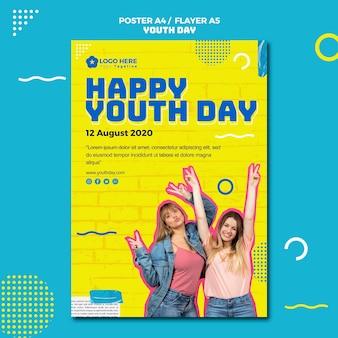 Design de folheto para evento do dia da juventude