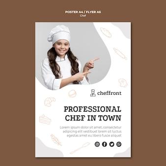 Design de folheto profissional chef