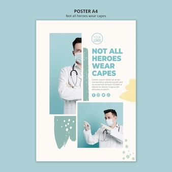 Design de folheto profissional médico