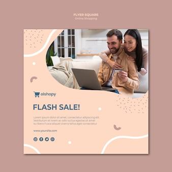 Design de folheto quadrado compras online