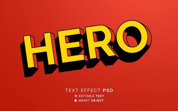 Design de herói de efeito de texto