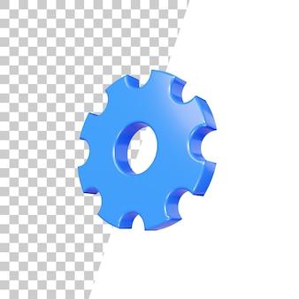 Design de ícone de configuração 3d brilhante