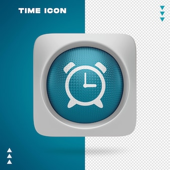 Design de ícone de tempo em renderização 3d