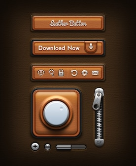 Design de interface retro psd
