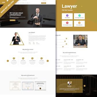 Design de interface web de escritório de advocacia