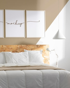 Design de interiores com composição de molduras mock-up