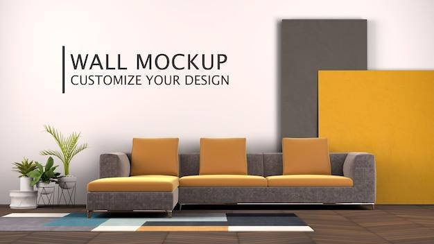 Design de interiores com sofá