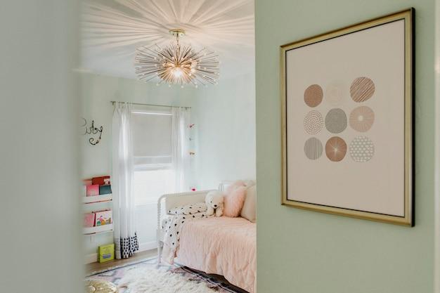 Design de interiores de sala de estar infantil