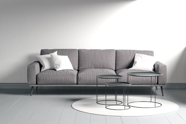 Design de interiores moderno da sala de estar