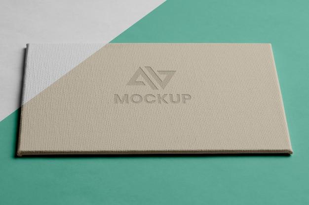 Design de logotipo de mock-up para alta visão de negócios
