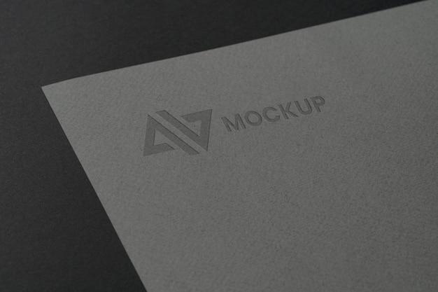 Design de logotipo mock-up em acessórios de papelaria Psd grátis