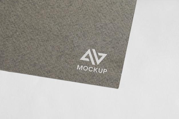 Design de logotipo mock-up em acessórios de papelaria