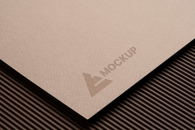 Design de logotipo mock-up para empresas