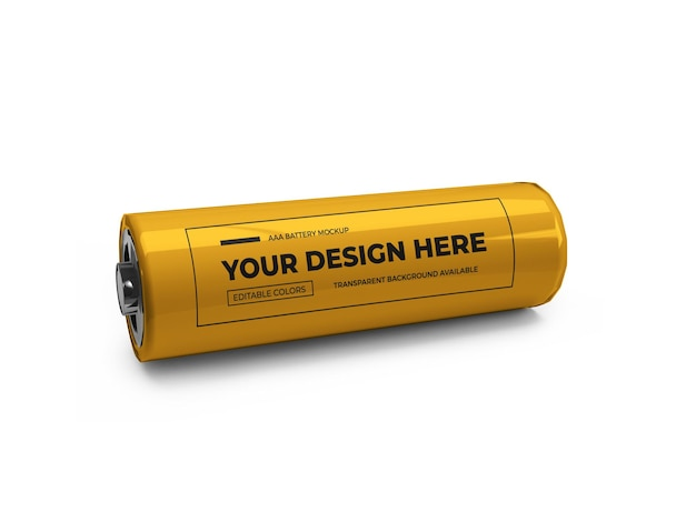 Design de maquete 3d de bateria pequena