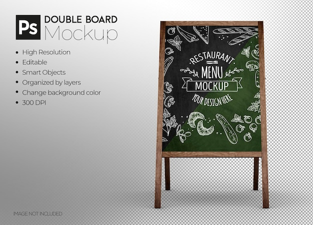 Design de maquete 3d de display de quadro