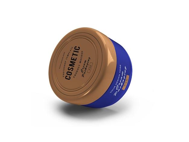Design de maquete 3d de frasco cosmético de creme em renderização 3d