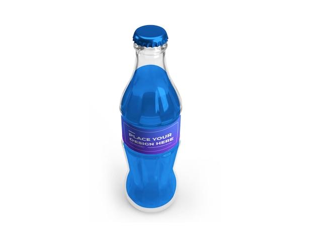 Design de maquete 3d de garrafa de refrigerante