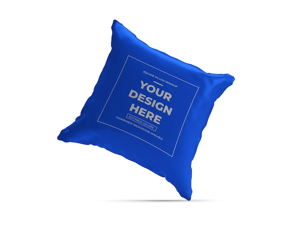 Design de maquete 3d square pillow isolado