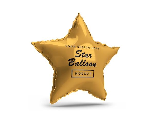 Design de maquete 3d star foil balloon