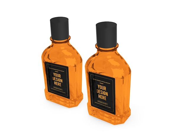 Design de maquete 3d whisky alcohol