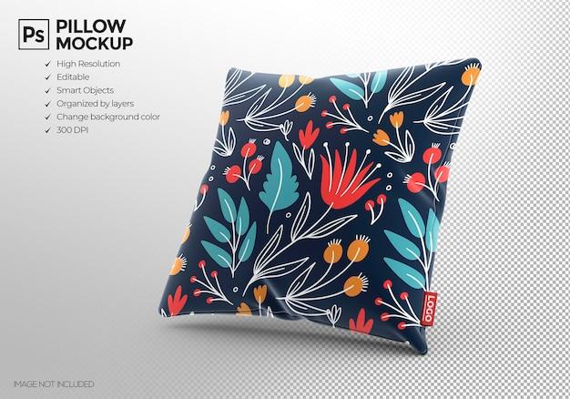 Design de maquete de almofada quadrada