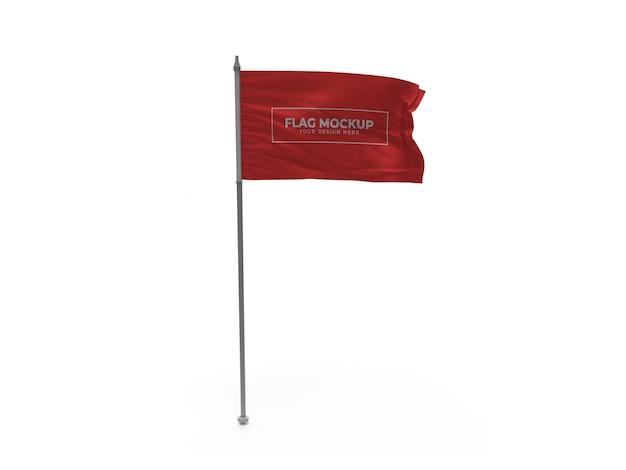 Design de maquete de bandeira ondulante