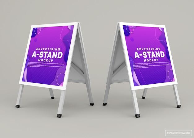 Design de maquete de banner de stand publicitário