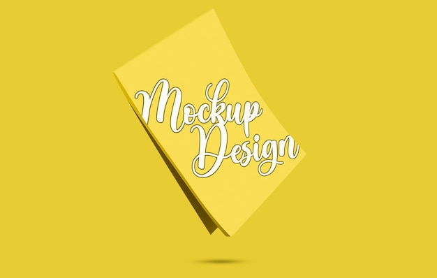 Design de maquete de bloco de notas