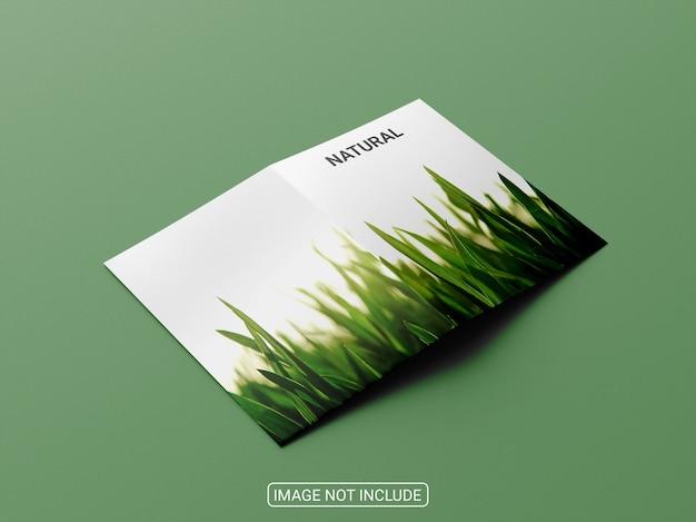 Design de maquete de brochura bifold a4a5
