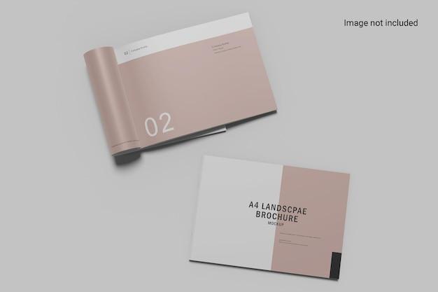 Design de maquete de brochura com duas paisagens