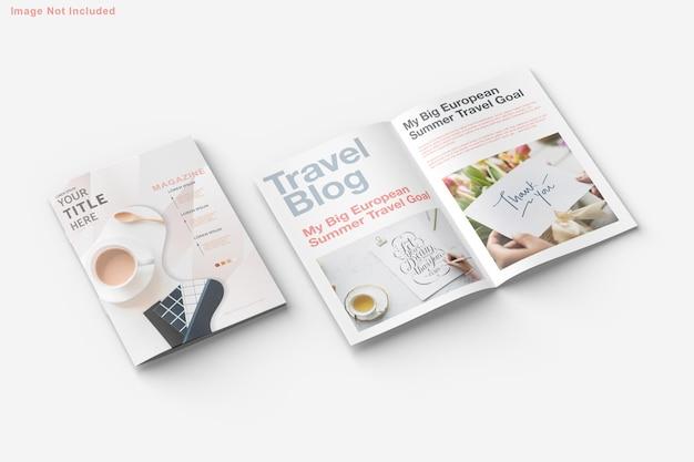 Design de maquete de brochura e revista