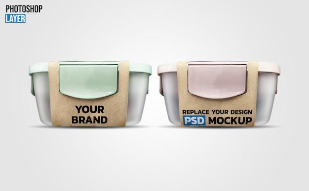 Design de maquete de caixa de almoço