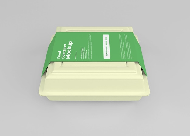 Design de maquete de caixa de comida para levar