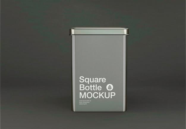 Design de maquete de caixa de lata metálica