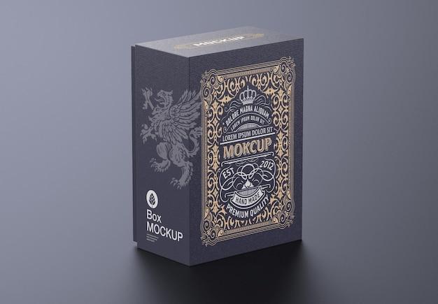 Design de maquete de caixa de papelão de luxo