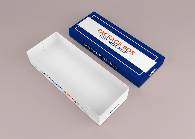 Design de maquete de caixa de papelão