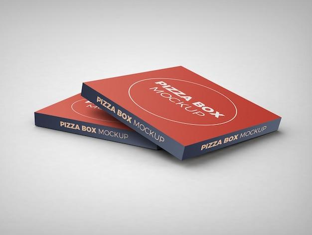 Design de maquete de caixa de pizza isolado