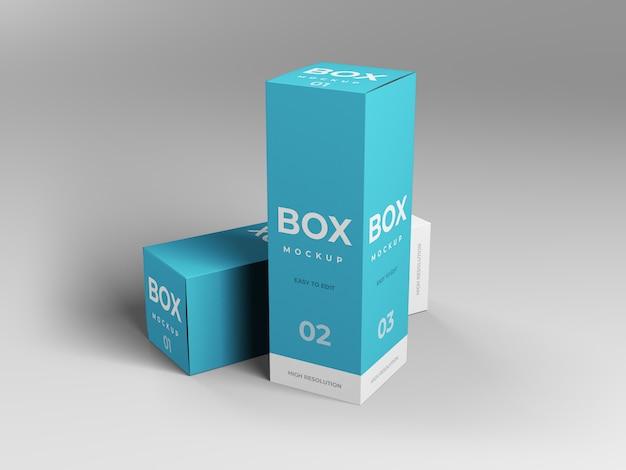 Design de maquete de caixa