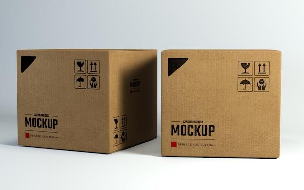 Design de maquete de caixas de papelão para apresentação