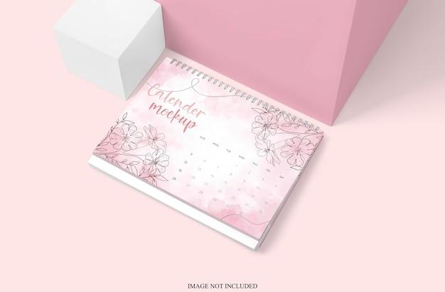 Design de maquete de calendário de mesa isolado