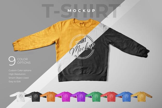 Design de maquete de camiseta
