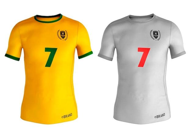 Design de maquete de camisetas esportivas masculinas