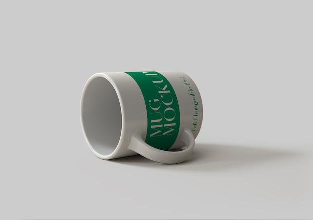Design de maquete de caneca psd isolado